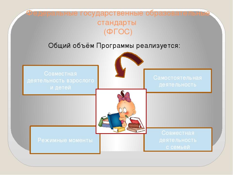 Федеральные государственные образовательные стандарты (ФГОС) Общий объём Прог...
