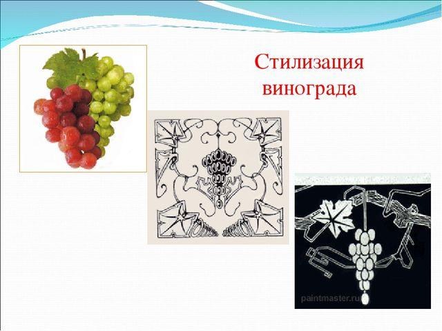 Стилизация винограда