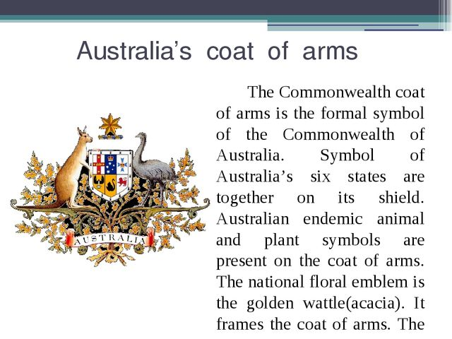 Australia's coat of arms The Commonwealth coat of arms is the formal symbol...