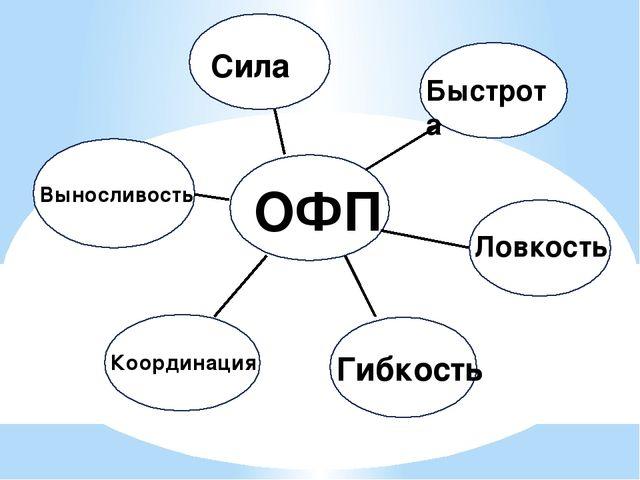 Гибкость ОФП Сила Быстрота Ловкость Гибкость Координация Выносливость