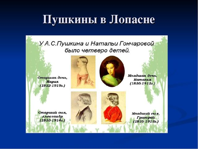 Пушкины в Лопасне