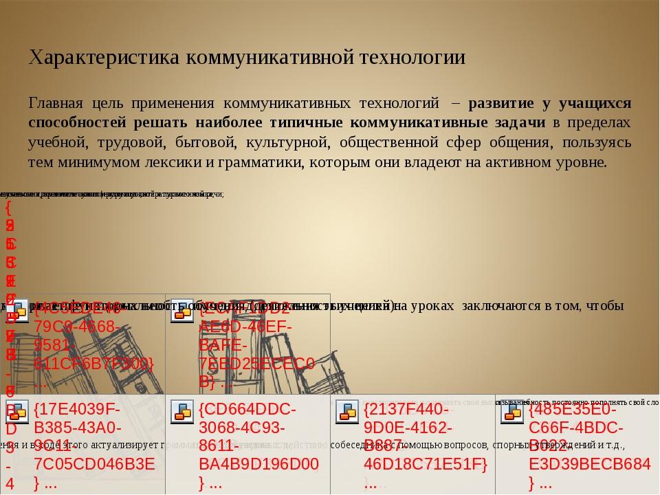 Характеристика коммуникативной технологии Главная цель применения коммуникати...