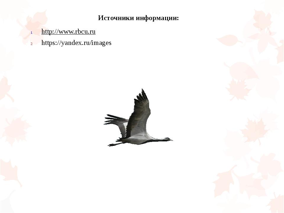 Источники информации: http://www.rbcu.ru https://yandex.ru/images