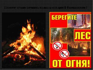 Поэтому нужно помнить правила пожарной безопасности !