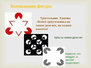 Возникающие фигуры Треугольник Канеша - белого треугольника на самом деле нет