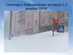 Снегопад в Комсомольске- на Амуре 1-3 декабря 2014г.