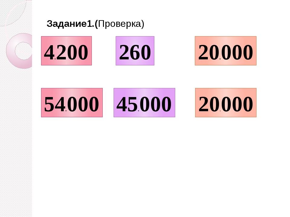 4.200 54.000 260 45.000 20.000 20.000 Задание1.(Проверка)