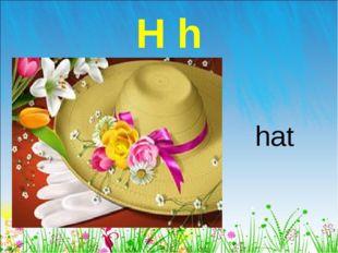 H h hat