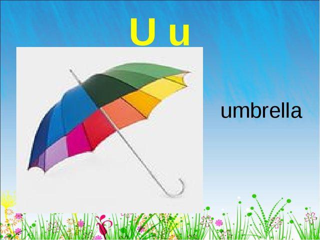 U u umbrella