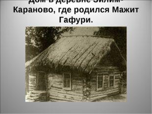 Дом в деревне Зилим-Караново, где родился Мажит Гафури.
