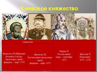 Киевское княжество Всеволод III Юрьевич Большое Гнездо (несколько дней) февра