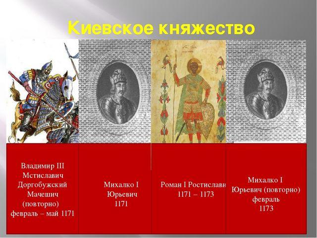 Киевское княжество Владимир III Мстиславич Доргобужский Мачешич (повторно) фе...