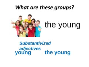 the young Substantivized adjectives young the young