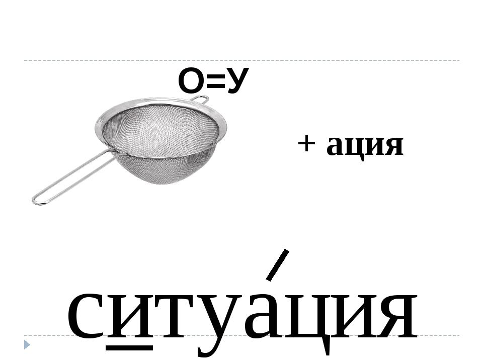 ситуация О=У + ация
