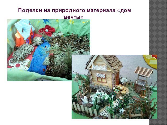 Поделки из природного материала «дом мечты»
