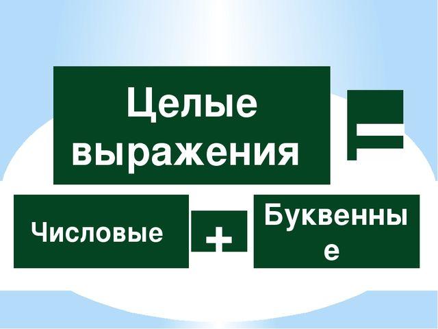 = Числовые Буквенные + Целые выражения