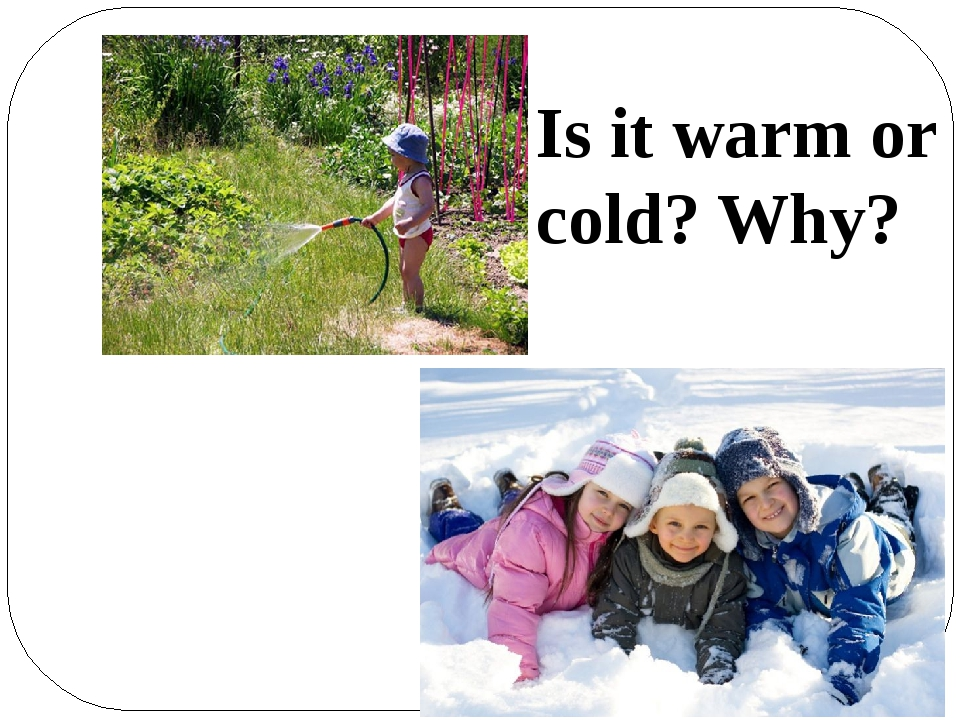 Is it warm or cold? Why?