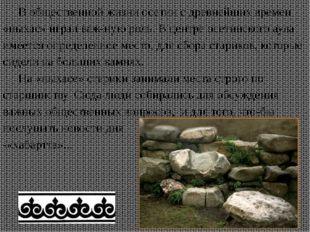 В общественной жизни осетин с древнейших времен «ныхас» играл важную роль. В