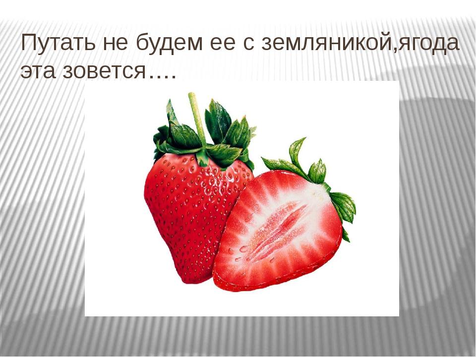 Путать не будем ее с земляникой,ягода эта зовется….
