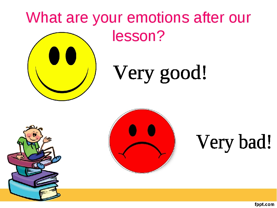 What are your emotions after our lesson?