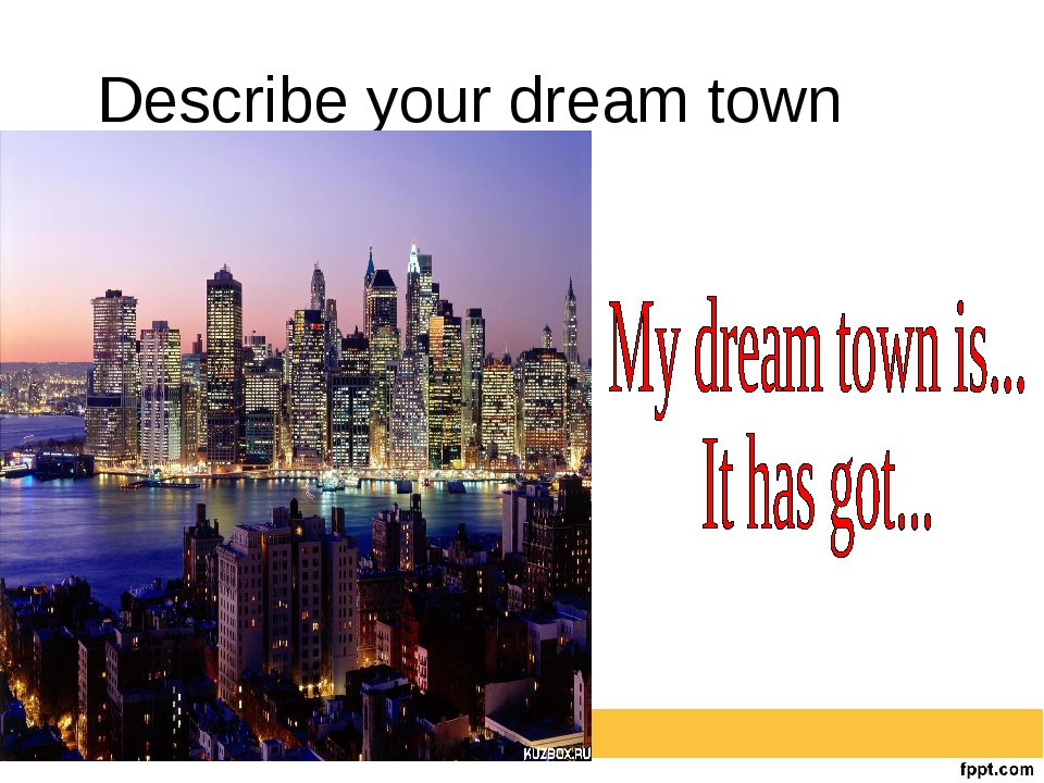 Describe your dream town