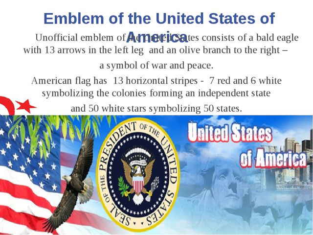Emblem of the United States of America Unofficial emblem of the United States...