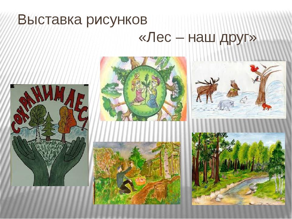 Выставка рисунков «Лес – наш друг»