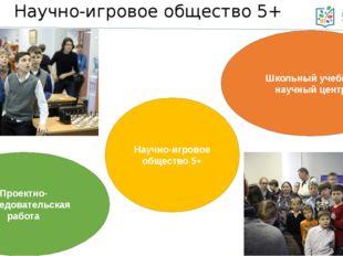 Научно-игровое общество 5+ Научно-игровое общество 5+ Школьный учебно-научный