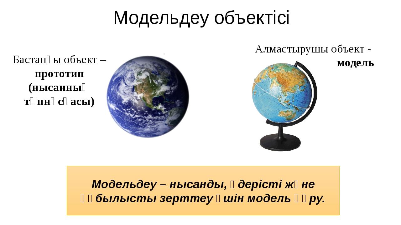 Модельдеу объектісі Модельдеу – нысанды, үдерісті және құбылысты зерттеу үшін...