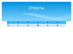 Ответы 123456 ЕГБЖАИ