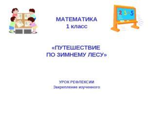 МАТЕМАТИКА 1 класс «ПУТЕШЕСТВИЕ ПО ЗИМНЕМУ ЛЕСУ» УРОК РЕФЛЕКСИИ Закрепление