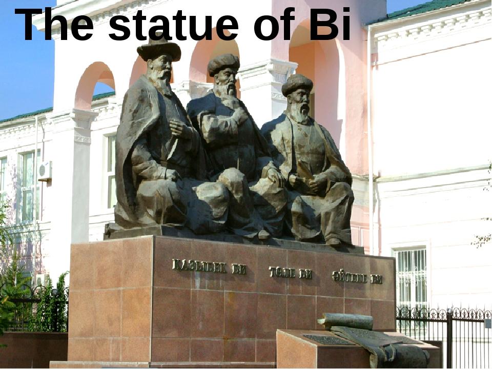 The statue of Bi