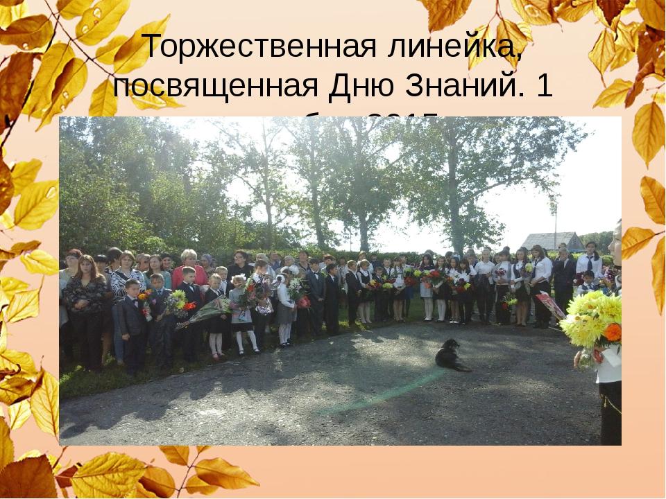Торжественная линейка, посвященная Дню Знаний. 1 сентября 2015г