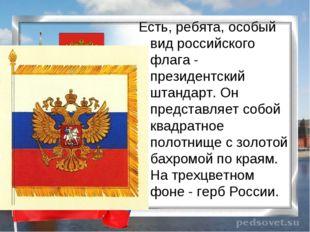 Есть, ребята, особый вид российского флага - президентский штандарт. Он предс