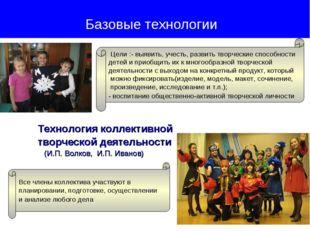 Технология коллективной творческой деятельности (И.П. Волков, И.П. Иванов) Б