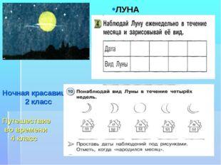 Ночная красавица 2 класс Путешествие во времени 4 класс ЛУНА