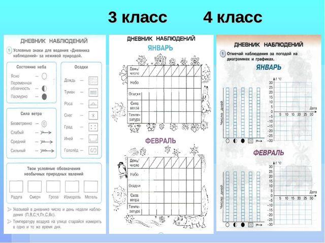 3 класс 4 класс