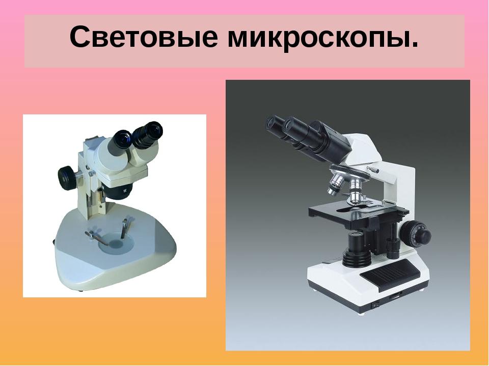 Световые микроскопы.