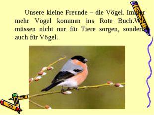 Unsere kleine Freunde – die Vögel. Immer mehr Vögel kommen ins Rote Buch.Wi