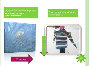 Образование снежных узоров на холодном окне - кристализация... Свитер после с