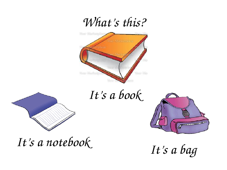What's this? It's a book It's a notebook It's a bag