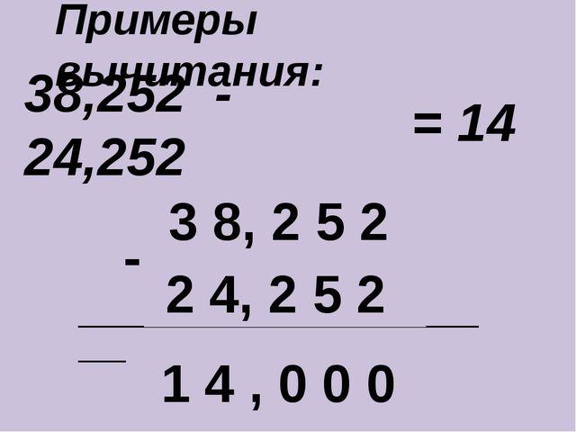 38,252 - 24,252 ____________________________ - 3 8, 2 5 2 2 4, 2 5 2 1 4 , 0...