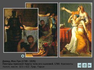 Давид, Жак-Луи Смерть Марата. Фрагмент. 1793 165 х 128 см. масло, холст Брюсс