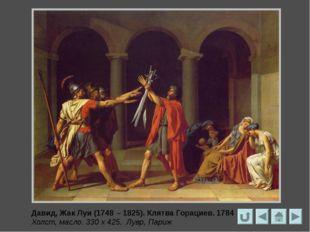 Давид, Жак Луи (1748 – 1825) Андромаха, оплакивающая Гектора. 1783 Холст, ма