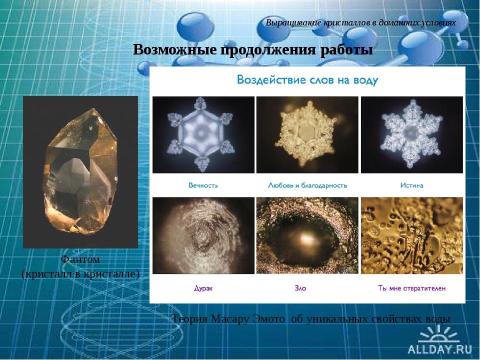 Выращивание кристаллов в домашних условиях Фантом (кристалл в кристалле) Теор...