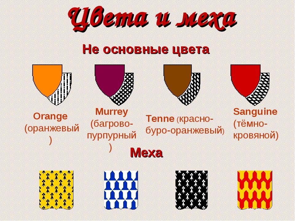 Цвета и меха Меха Не основные цвета Orange (оранжевый) Tenne (красно-буро-ора...
