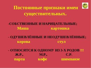 -СОБСТВЕННЫЕ И НАРИЦАТЕЛЬНЫЕ; Маша картошка - ОДУШЕВЛЁННЫЕ И НЕОДУШЕВЛЁННЫЕ;