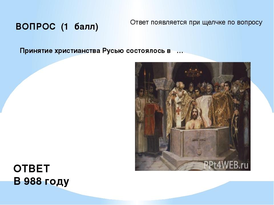 Подсказка ВОПРОС (3 балла) Андрей Рублев - это знаменитый … ОТВЕТ иконописец.