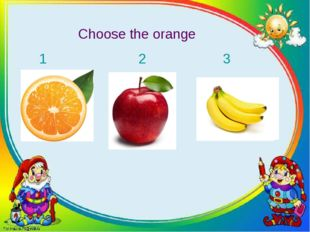 Choose the orange 1 2 3