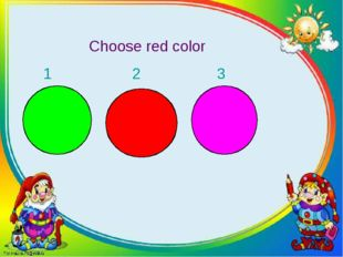 Choose red color 1 2 3